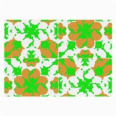 Graphic Floral Seamless Pattern Mosaic Large Glasses Cloth