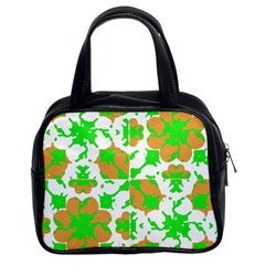 Graphic Floral Seamless Pattern Mosaic Classic Handbags (2 Sides)