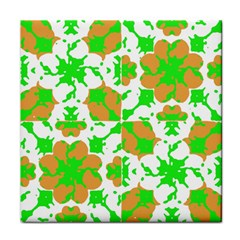 Graphic Floral Seamless Pattern Mosaic Face Towel
