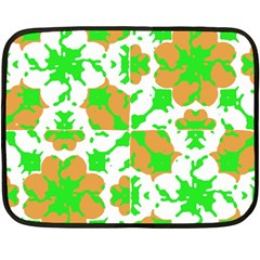 Graphic Floral Seamless Pattern Mosaic Double Sided Fleece Blanket (Mini)