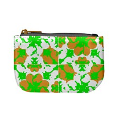 Graphic Floral Seamless Pattern Mosaic Mini Coin Purses