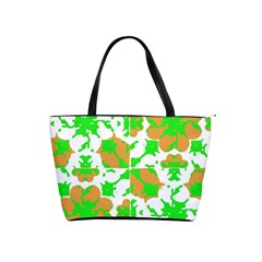 Graphic Floral Seamless Pattern Mosaic Shoulder Handbags