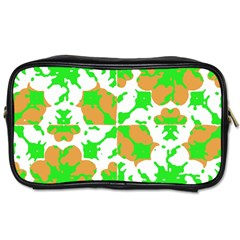 Graphic Floral Seamless Pattern Mosaic Toiletries Bags 2-Side