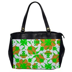 Graphic Floral Seamless Pattern Mosaic Office Handbags