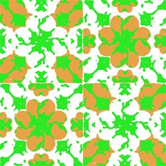 Graphic Floral Seamless Pattern Mosaic Magic Photo Cubes