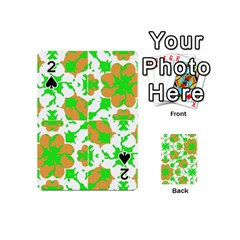 Graphic Floral Seamless Pattern Mosaic Playing Cards 54 (Mini)