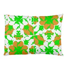 Graphic Floral Seamless Pattern Mosaic Pillow Case (Two Sides)