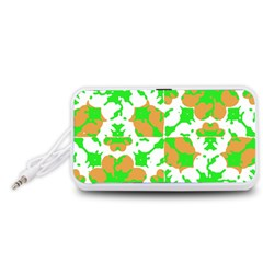 Graphic Floral Seamless Pattern Mosaic Portable Speaker (White)