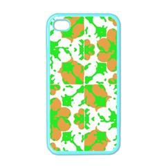 Graphic Floral Seamless Pattern Mosaic Apple iPhone 4 Case (Color)