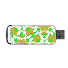 Graphic Floral Seamless Pattern Mosaic Portable USB Flash (One Side)