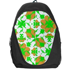 Graphic Floral Seamless Pattern Mosaic Backpack Bag