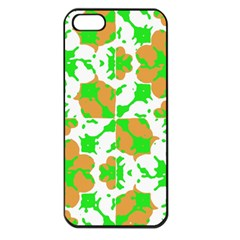 Graphic Floral Seamless Pattern Mosaic Apple iPhone 5 Seamless Case (Black)