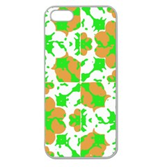 Graphic Floral Seamless Pattern Mosaic Apple Seamless iPhone 5 Case (Clear)