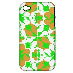 Graphic Floral Seamless Pattern Mosaic Apple iPhone 4/4S Hardshell Case (PC+Silicone)