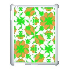 Graphic Floral Seamless Pattern Mosaic Apple iPad 3/4 Case (White)