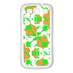 Graphic Floral Seamless Pattern Mosaic Samsung Galaxy S3 Back Case (White)