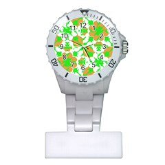 Graphic Floral Seamless Pattern Mosaic Plastic Nurses Watch