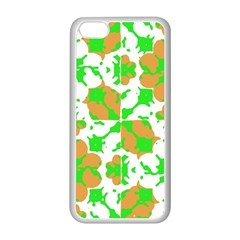 Graphic Floral Seamless Pattern Mosaic Apple iPhone 5C Seamless Case (White)