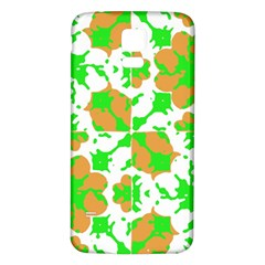 Graphic Floral Seamless Pattern Mosaic Samsung Galaxy S5 Back Case (White)