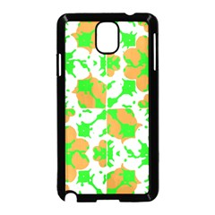 Graphic Floral Seamless Pattern Mosaic Samsung Galaxy Note 3 Neo Hardshell Case (Black)
