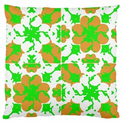 Graphic Floral Seamless Pattern Mosaic Large Flano Cushion Case (One Side)