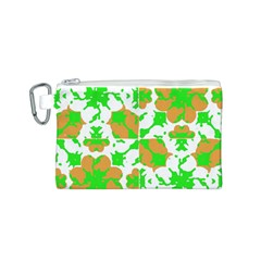 Graphic Floral Seamless Pattern Mosaic Canvas Cosmetic Bag (S)