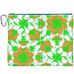 Graphic Floral Seamless Pattern Mosaic Canvas Cosmetic Bag (XXXL)