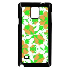 Graphic Floral Seamless Pattern Mosaic Samsung Galaxy Note 4 Case (Black)