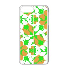 Graphic Floral Seamless Pattern Mosaic Apple iPhone 7 Plus White Seamless Case