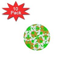 Graphic Floral Seamless Pattern Mosaic 1  Mini Buttons (10 pack)