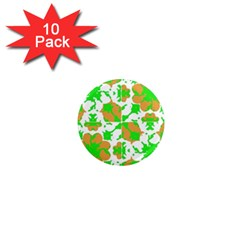 Graphic Floral Seamless Pattern Mosaic 1  Mini Magnet (10 pack)