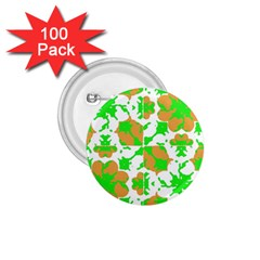 Graphic Floral Seamless Pattern Mosaic 1.75  Buttons (100 pack)