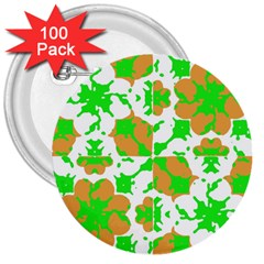 Graphic Floral Seamless Pattern Mosaic 3  Buttons (100 pack)