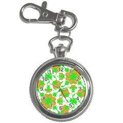 Graphic Floral Seamless Pattern Mosaic Key Chain Watches