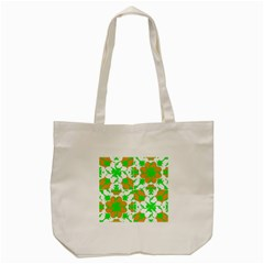 Graphic Floral Seamless Pattern Mosaic Tote Bag (Cream)