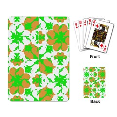 Graphic Floral Seamless Pattern Mosaic Playing Card