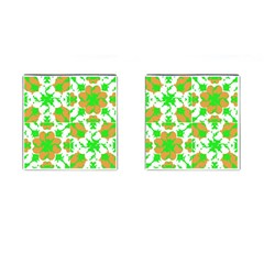 Graphic Floral Seamless Pattern Mosaic Cufflinks (Square)