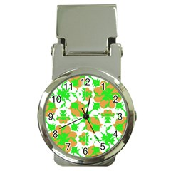 Graphic Floral Seamless Pattern Mosaic Money Clip Watches