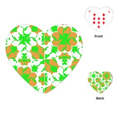Graphic Floral Seamless Pattern Mosaic Playing Cards (Heart)