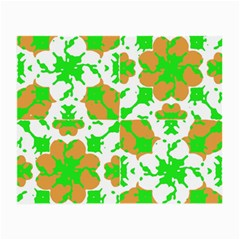 Graphic Floral Seamless Pattern Mosaic Small Glasses Cloth (2-Side)