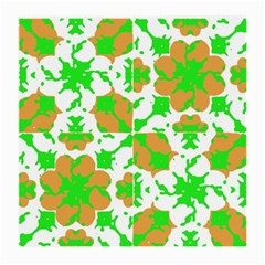 Graphic Floral Seamless Pattern Mosaic Medium Glasses Cloth (2-Side)