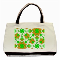 Graphic Floral Seamless Pattern Mosaic Basic Tote Bag (Two Sides)