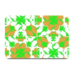 Graphic Floral Seamless Pattern Mosaic Plate Mats