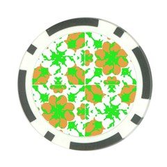 Graphic Floral Seamless Pattern Mosaic Poker Chip Card Guard