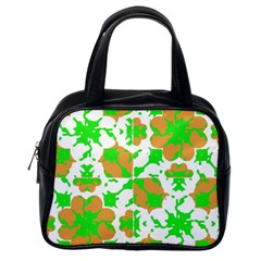 Graphic Floral Seamless Pattern Mosaic Classic Handbags (One Side)