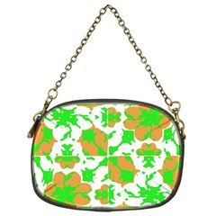 Graphic Floral Seamless Pattern Mosaic Chain Purses (One Side)