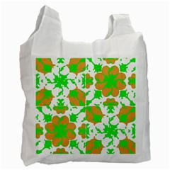 Graphic Floral Seamless Pattern Mosaic Recycle Bag (Two Side)