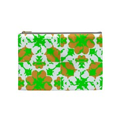 Graphic Floral Seamless Pattern Mosaic Cosmetic Bag (Medium)