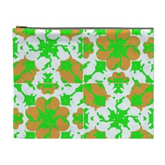 Graphic Floral Seamless Pattern Mosaic Cosmetic Bag (XL)