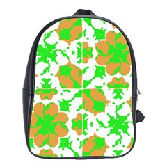 Graphic Floral Seamless Pattern Mosaic School Bags(Large)